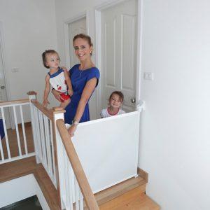Barrera de seguridad para escaleras protec baby for Barrera piscina